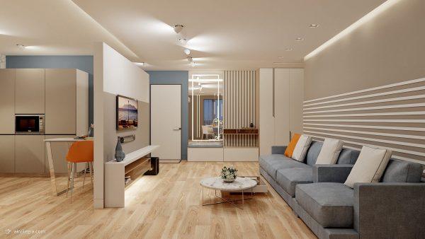 Ремонт двухкомнатной квартиры в новостройке под ключ